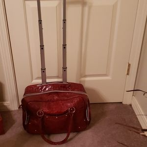 Red patent leather carryon.  Smoke free.